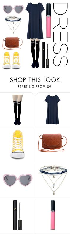 """""""Untitled #71"""" by smolandtired on Polyvore featuring Converse, Vans, Decree, Lancôme, Armani Beauty, converse, CasualChic, under100, youth and dreamydresses"""