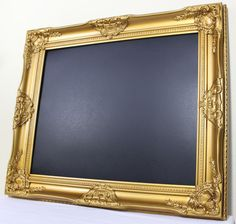 Need to make one of these. Framed Chalkboard Gold Frame Wedding Memo Menu by LoweryDesigns, $109.95