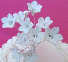 10 Gum Paste Sugar  Diamante Stephanotis Rhinestone Cake Decorating Flowers