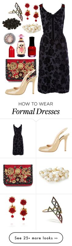"""""""Untitled #1326"""" by sarahbearx on Polyvore featuring Dolce&Gabbana, lito, Oleg Cassini, Giambattista Valli, The Limited, Tasha, Lord & Berry, Henry Jacques and ORLY"""
