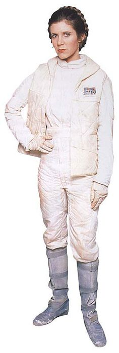 Costume that Princess Leia wears during the Battle of Hoth. I have always loved this costume and the braided crown since I first watched Star Wars V: The Empire Strikes Back. Someday (Yes! Someday!) I want to wear a costume like this, or do my hair up like this, at least :) #starwars
