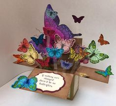 Butterfly Pop Up Box by karjor - Cards and Paper Crafts at Splitcoaststampers
