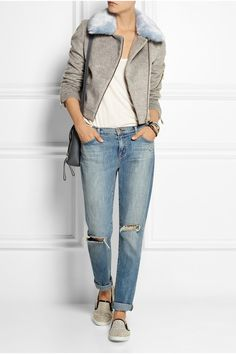 Shrimps#faux #biker jacket #boyish #style