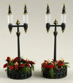 General Village Electrical Holiday Streetlights Set Of 2 - Boxed by Department 56 Christmas In The City, Christmas Town, Christmas Bells, Holiday Ornaments, Holiday Decor, Halloween Labels, Vintage Halloween, Halloween Crafts, Halloween Halloween