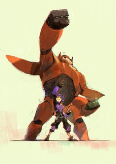 Big hero 6 Fan art, Miyazaki Akira on ArtStation at https://www.artstation.com/artwork/big-hero-6-fan-art-f7b370f4-cae1-4a5d-9d90-073b3ee71ba0