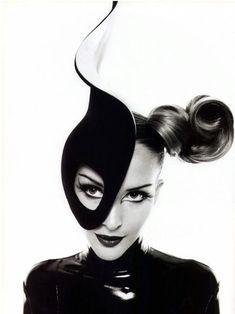 """Half- Mask"" Theirry Mugler~Model: Georgina Grenville~♛"