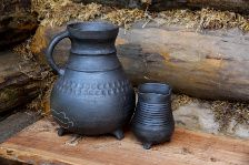 replica of  medieval pottery/13th century