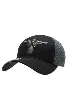 Wrangler 20X® Black   Grey with 20X Steer Logo Embroidery Flex Fit Cap  Western Hats fa940768fc