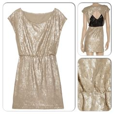 ⚡️NWT Rebecca Minkoff Sequin Dress ⚡️PM Editor Pick HP 12/29/14 by akahc (the lovely Heather) for the Show Stopping Party!  NWT Authentic Rebecca Minkoff sequin dress in champagne and black. Elastic waist, cut-out back, hidden side zip closure. Fully lined. 100% silk lining. Perfect for the upcoming holiday parties!  Retail at $598 plus tax. Rebecca Minkoff Dresses