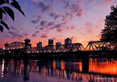 Little Rock, Arkansas Sunset.  Home sweet home.