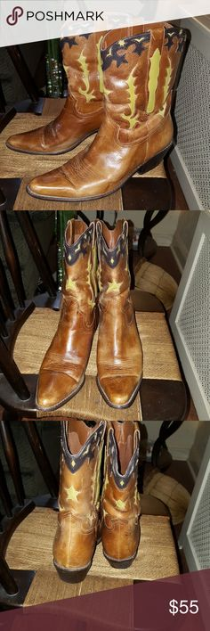 Magnificent Matisse cowboy boots 8.5 Nice pre-loved condition showing some signs of being worn but it kind of adds to the distressed look of the boot. No original box this is a leather boot and does not run small as I wear a nine and a half and I can actually get my foot in. Matisse Shoes Ankle Boots & Booties