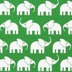 Cotton Elephant 4 - Cotton - grass green