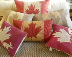 Items similar to hand printed vintage inspired Canadian flag cushion cover on Etsy Le Living, Cottage Living, Living Room, Canada Day Crafts, Canada Day Party, Canadian Things, Happy Canada Day, Canada 150, Cool Countries