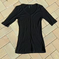 Selling this Black Ribbed Top in my Poshmark closet! My username is: meghanelena. #shopmycloset #poshmark #fashion #shopping #style #forsale #Cynthia Rowley #Tops