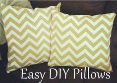 Easy DIY Pillow Cover