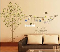 Wholesale Wall Stickers - Buy Free Shipping Memory Tree 3d Wall Stickerd Diy Home Decoration Photo Tree Wall Pasters Removable Sticker, $12.6 | DHgate