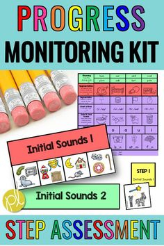 The STEP Reading Assessment measure Guided Reading Levels. This is a progress monitoring kit that takes students through a scope and sequence for phonemic awareness and phonics! It's aligned with STEPs 1, 2, and 3, but it's a complete program on its own! If you're looking for systematic program with student-friendly materials and teacher-friendly organizational tools, check out this progress monitoring kit! #steptest #stepreading