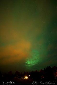 Aurora Battle With Clouds Taken by B.Art Braafhart on September 3, 2016 @ Salla, Finnish Lapland