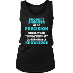 Product Engineer T-shirt, hoodie and tank top. Product Engineer funny gift idea.