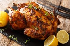 Juicy Rotisserie Chicken Recipes can be found at #MissHomemade Boiled Chicken, Raw Chicken, Fresh Chicken, Stuffed Whole Chicken, How To Cook Chicken, Best Rotisserie Chicken Recipe, Chicken Recipes, Chicken Meals, Rub Recipes