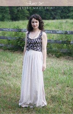 this almost makes me want to figure the whole sewing thing out. How to make a jersey maxi skirt // @Megan Ward Ward Nielsen