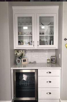 Updated Kitchen, New Kitchen, Kitchen Dining, Kitchen Decor, Dining Room, Home Renovation, Home Remodeling, Bar Sala, Coffee Bar Home