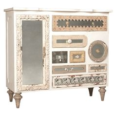 Mirror Mosaic Chest. Guest Bedroom