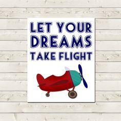 PRINTABLE Airplane Nursery Art  Let Your by BrunamontiBoutique