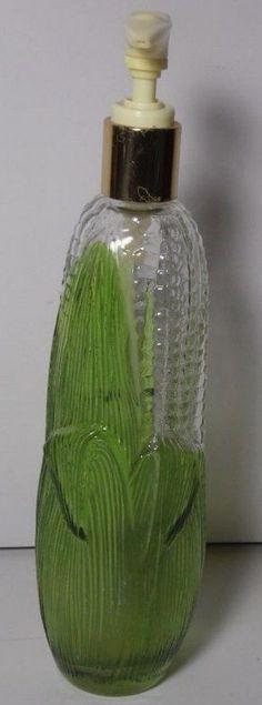 Vintage Avon Golden Harvest Corn on the Cob Hand Lotion Pump Dispenser Empty