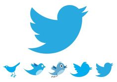 Updated Twitter logo. Evolution using geometry and golden ratio principles.