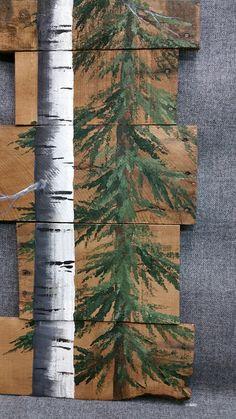 Arte de la plataforma de madera abedul blanco árbol de pino