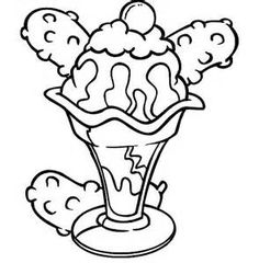 ice cream sundae coloring pages ice cream sundae coloring pages