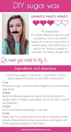 DIY sugar wax... Ok, I'm doing this wednesday evening when I'm done with clinicals and letting it cool while studying! Just in time for Valentine's day!