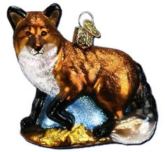 Red Fox | Old World Christmas Glass Ornaments