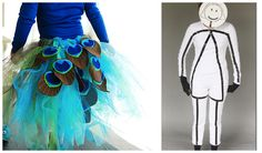 DIY Peacock or stick figure Halloween costume ideas #halloween #costume