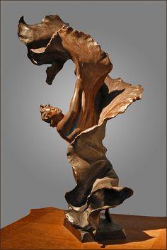 Statuette Loïe Fuller de Fernand Massignon, dit Pierre Roche (1855-1922)