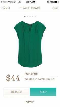This would be a great color for me. Cute top for work.
