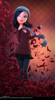 Fantastic 3D Animated Characters - Cheers!, Carlos Ortega Elizalde (3D) (this one feels like it could be me)