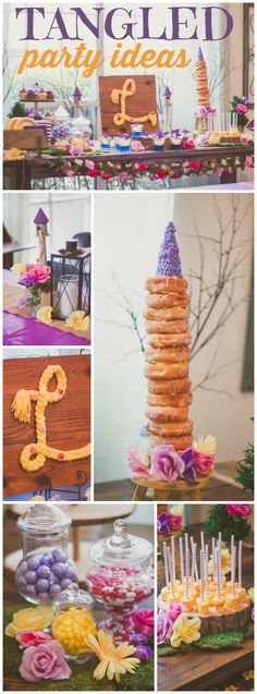 You have to see this fantastic Tangled girl birthday party! See more party ideas at CatchMyParty.com!