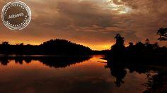 Por do sol na Lagoa da Usina em Alta Floresta D' Oeste - Rondônia - Brasil