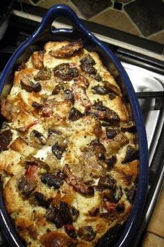 Savory Wild Mushroom& Butternut Squash Bread Pudding... can be served as a stuffing for Thanksgiving (also our Chef used Challah for the recipe)