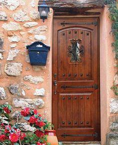 Knotty Alder Wood 2-Panel Front Door