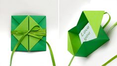 Pop Up Diamond Envelope Gift For Easter Origami