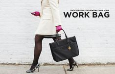 What to Pack: Essentials for Your Work Bag // gloves // Kate Spade pumps // winter white // coat