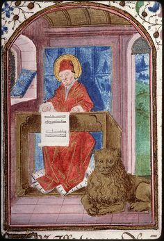 Love the smile on the lion's face. Amiens - BM - ms. 0200