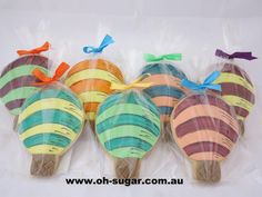 """""""Oh The Places You'll Go"""" Hot Air Ballon Cookies by Oh Sugar!"""