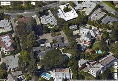 Rod McKuen Mansion 036a; 2015-10 Aerial view of mansion. Address 1155 Angelo Drive, Beverly Hills, CA 90210