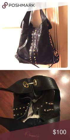 Michael Kors black purse Black and gold purse with long strap KORS Michael Kors Bags Crossbody Bags