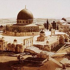 Masjid al-Aqsa (al-Quds (Jerusalem), Ottoman (? Islamic Pictures, Old Pictures, Old Photos, Temple Mount Jerusalem, Dome Of The Rock, Les Religions, Islamic World, Islamic Architecture, Place Of Worship