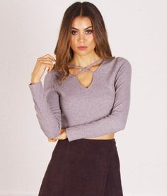 grey-crossed-detail-crop-top Here at redthread7 we're going back to basics and we feel that this crop top is an essential to your wardrobe!